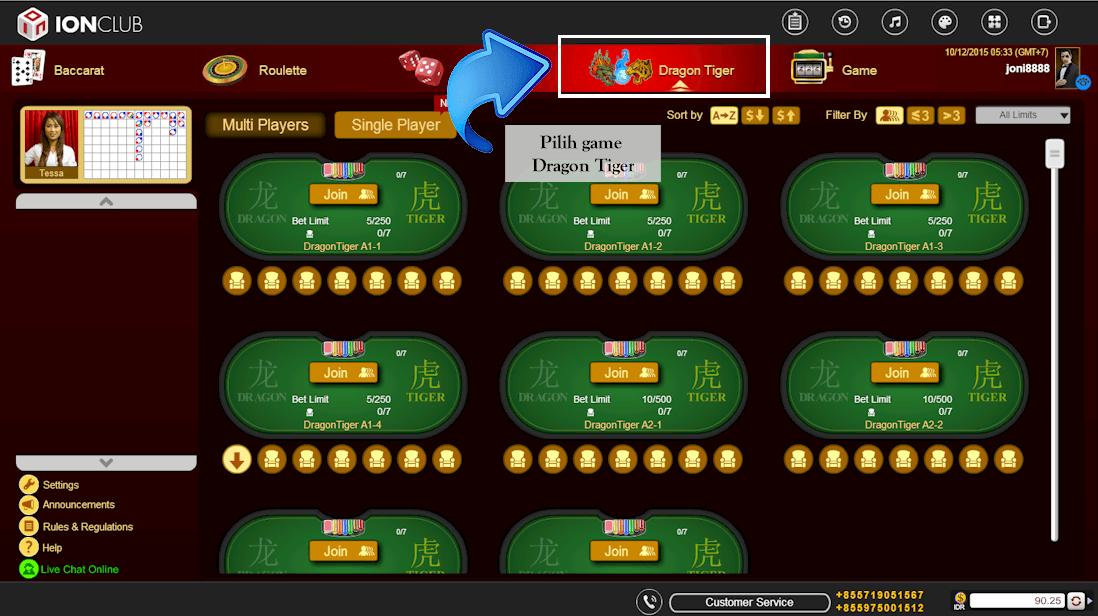 Panduan Main Dragon Tiger Ion Casino Agar Mudah Menang Besar